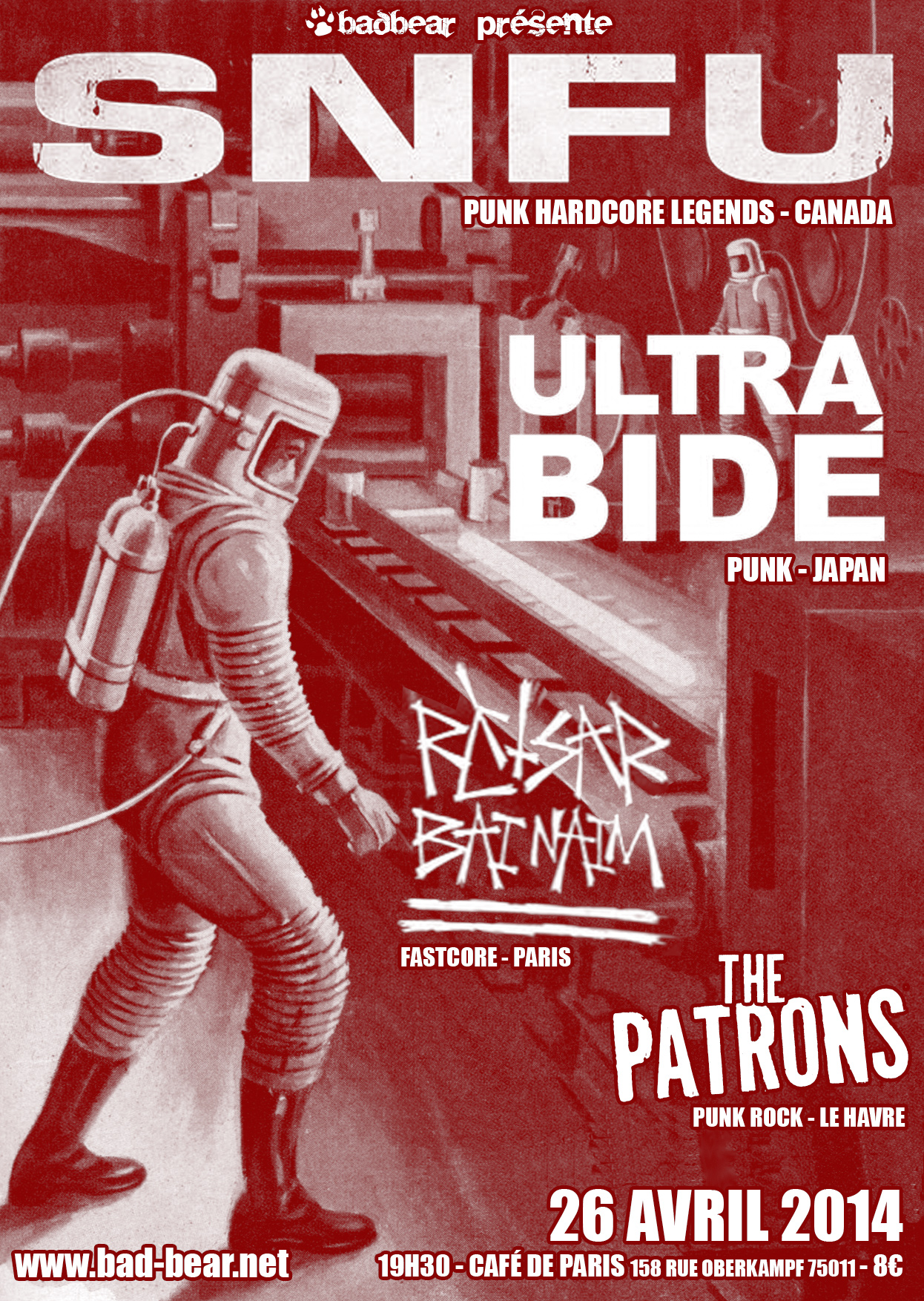 26/04-2014 - SNFU + Ultra Bide + Retsar Bai Naim + The Patrons
